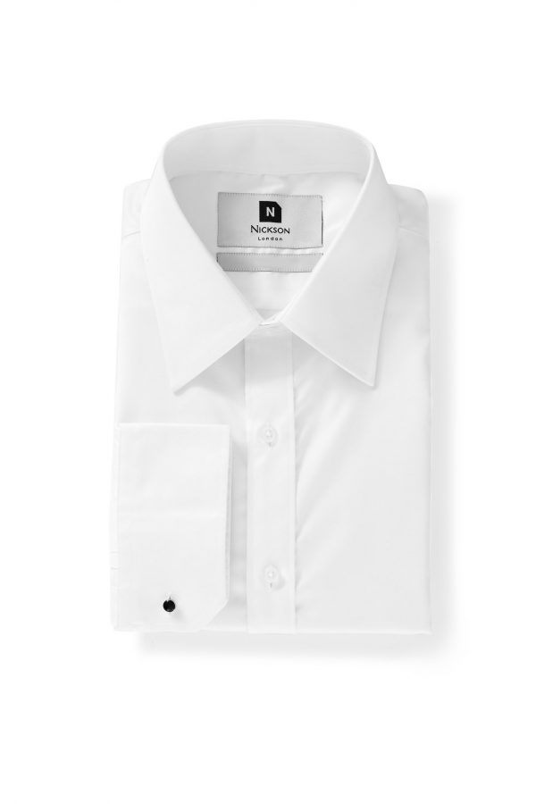 Straight Point Collar – Quick Iron - White - Folded