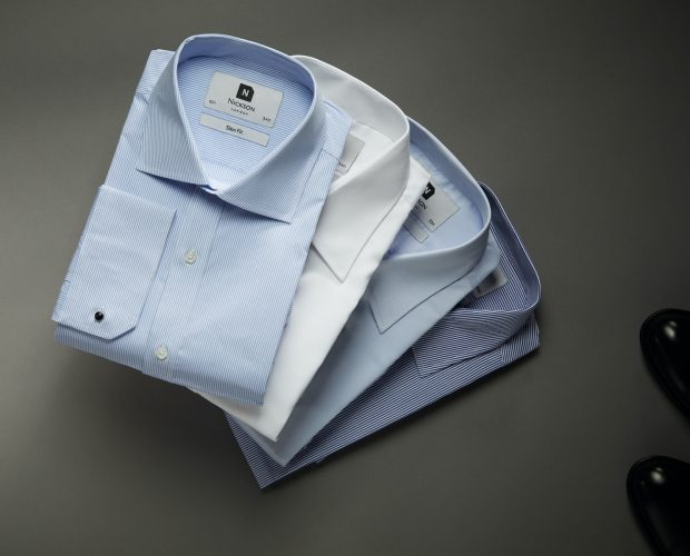 Men's dress shirts - fanned with all colours