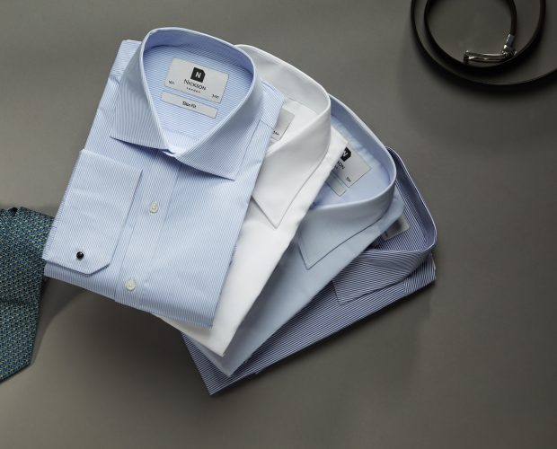 Father's day gifts - men's white shirts, men's light blue shirts, men's tie, men's belt