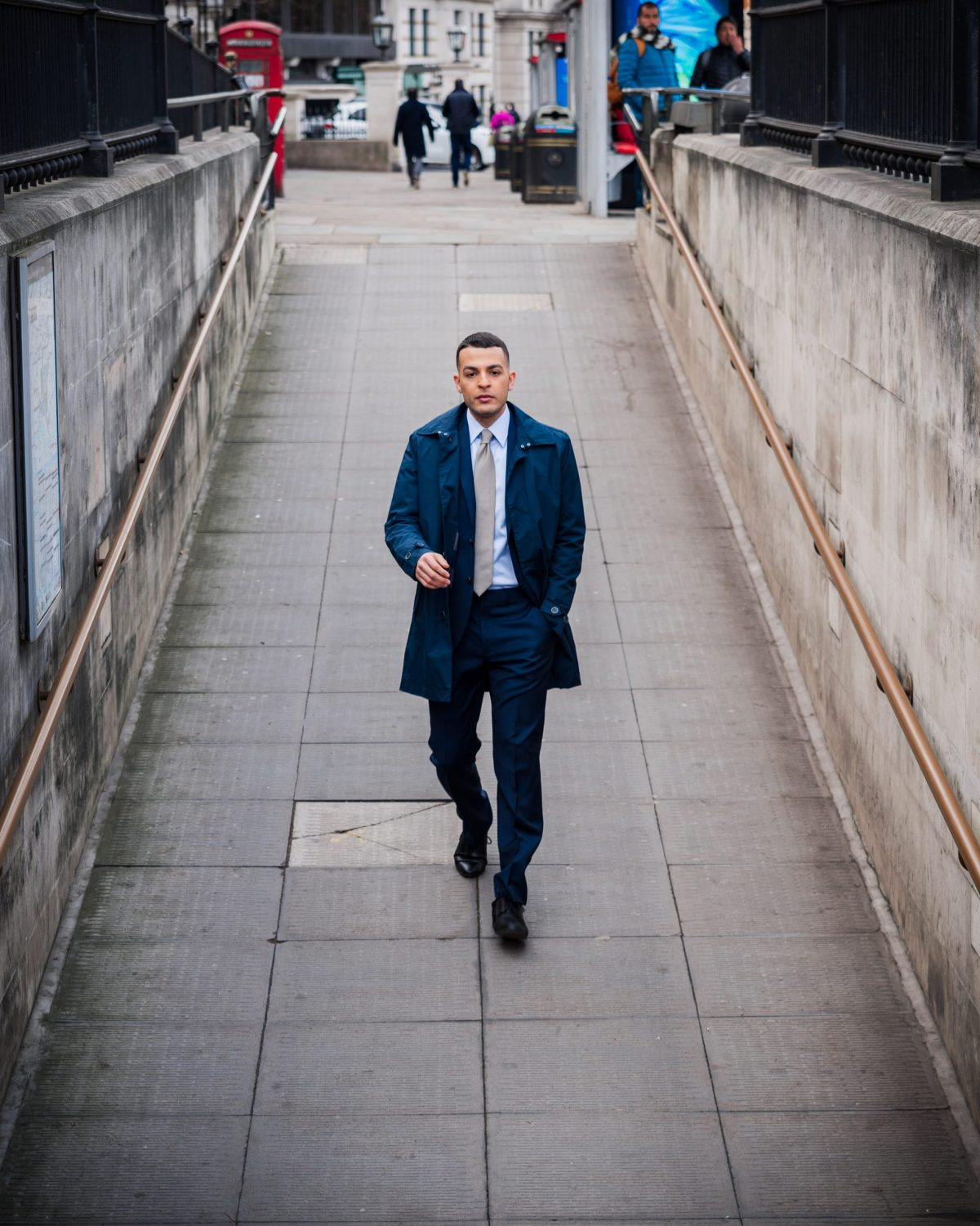 Man wearing Non-iron shirt and suit in London