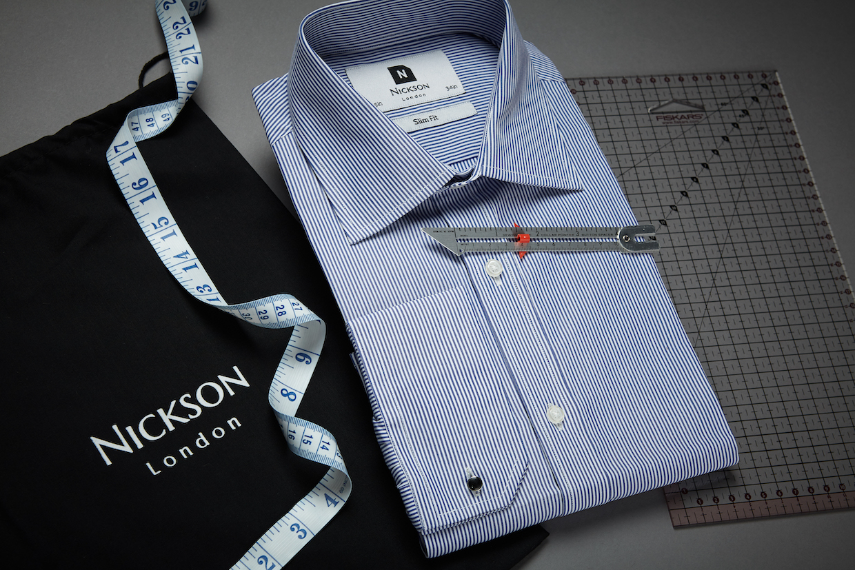 Formal Shirt with measuring tape and cloth bag