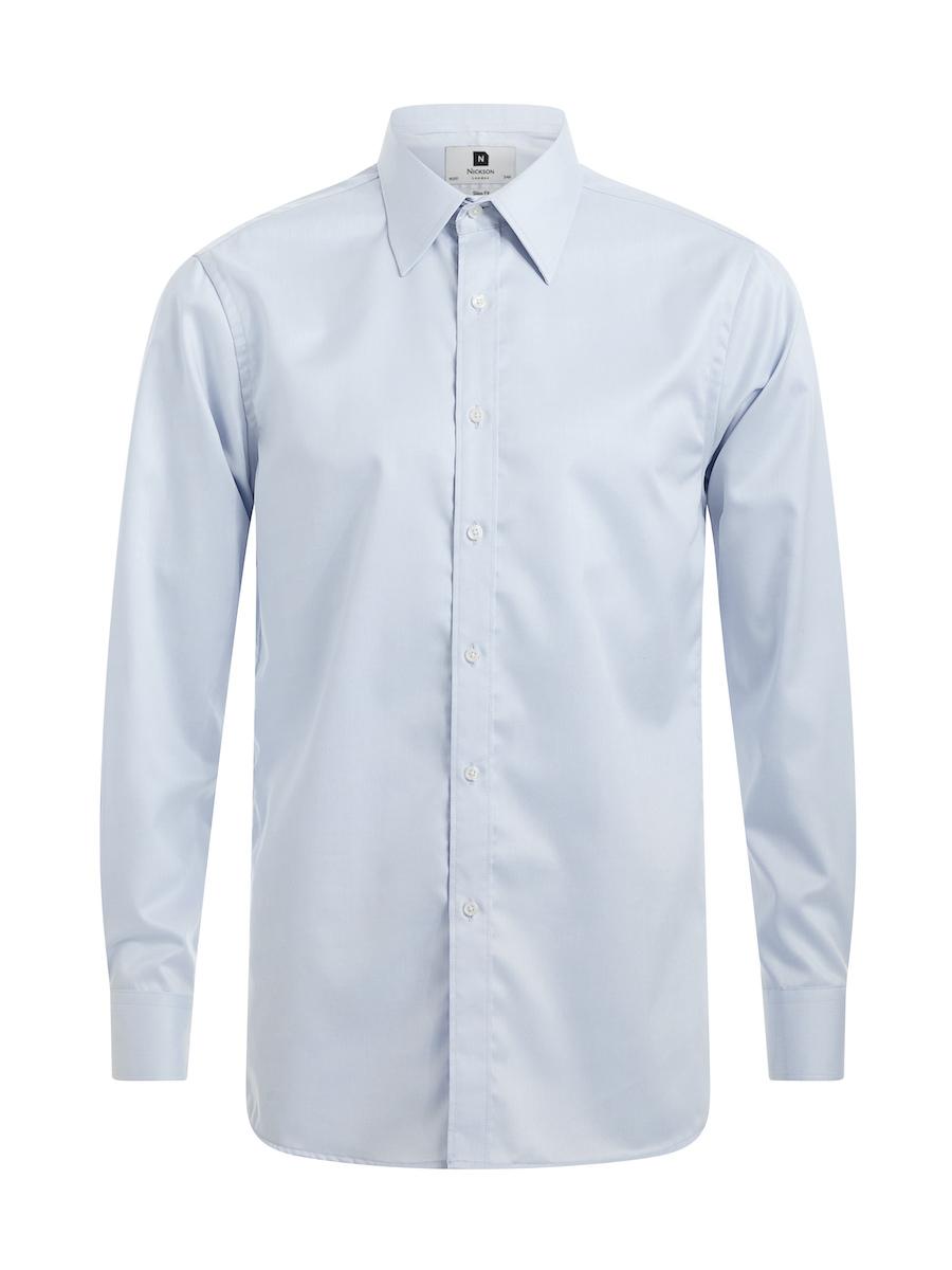 Men's Slim Fit Shirt in Light Blue, Regular Fit Shirt in Light Blue