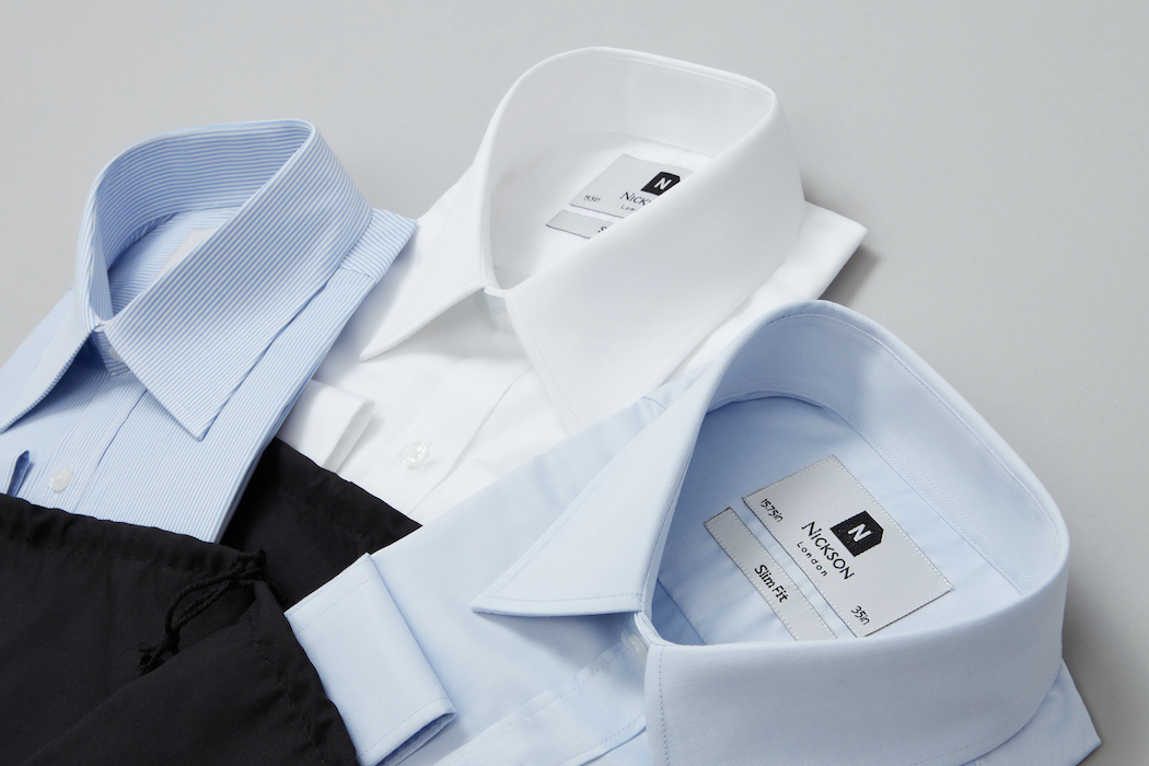 Buying Formal Shirts Online selection of 3 coloured shirts
