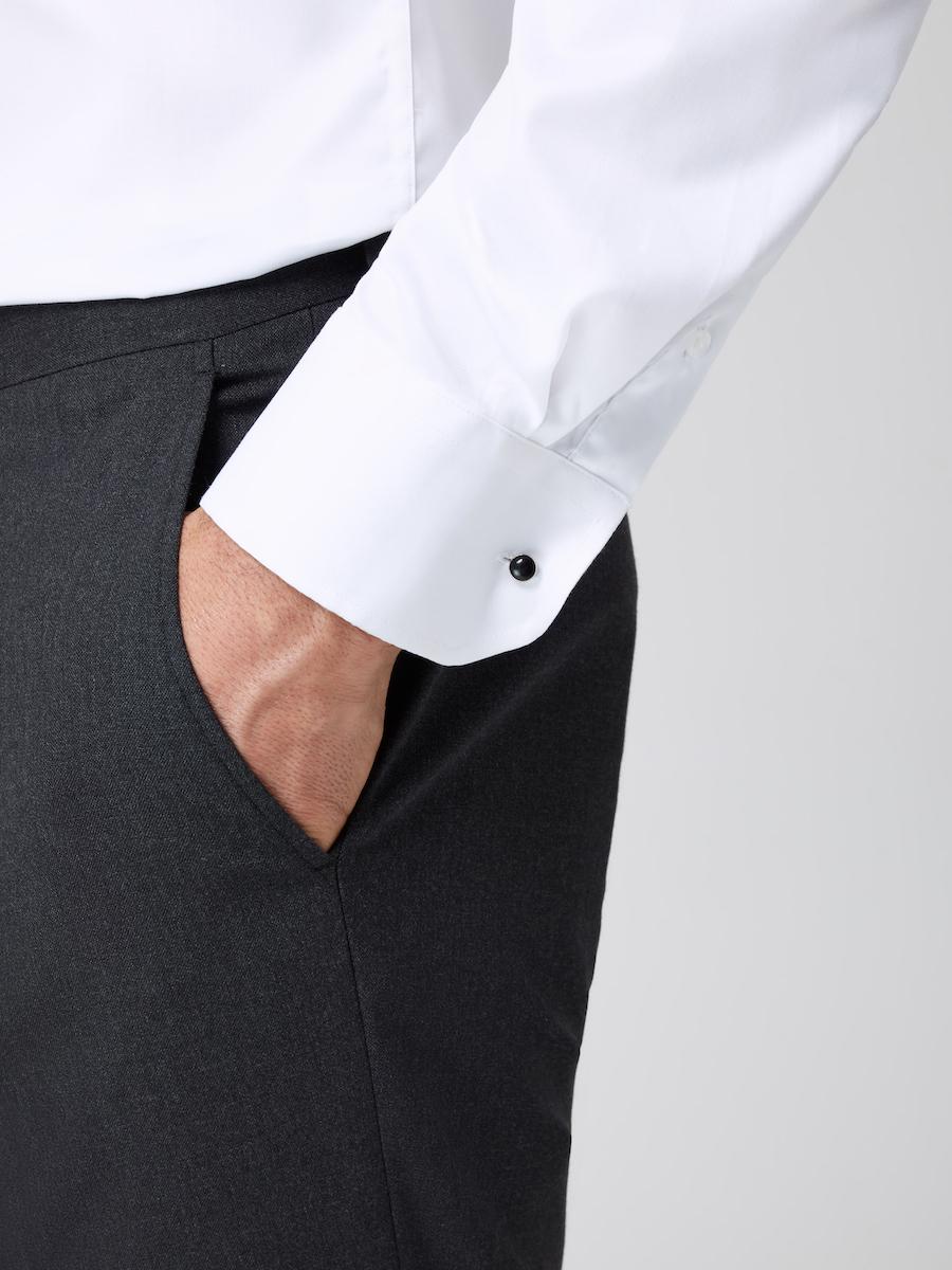 Formal Straight Point Collar Slim Fit White Cuff