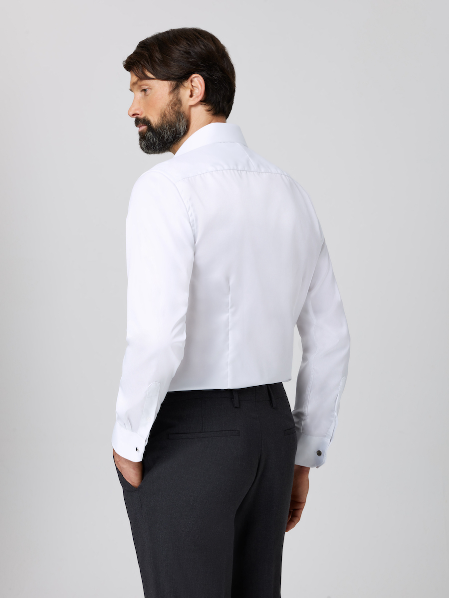 Formal Straight Point Collar Slim Fit White Side